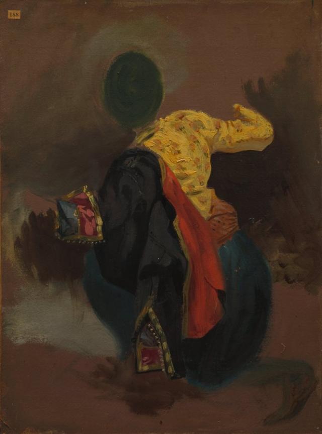 Эжен Делакруа. Фигура в турецком костюме. 1960-е