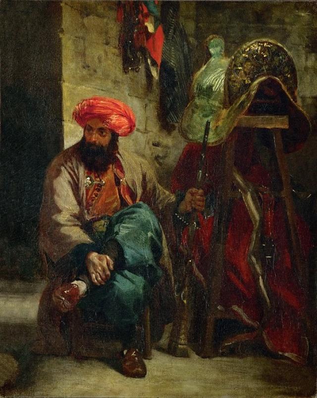 Эжен Делакруа. Турок с седлом. 1825
