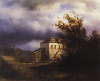 А. Саврасова. Перед грозой. 1880