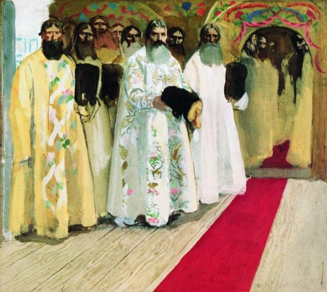 Андрей Рябушкин. Ожидают выхода царя. 1901
