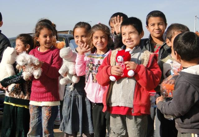 Езидские беженцы в иракском Курдистане