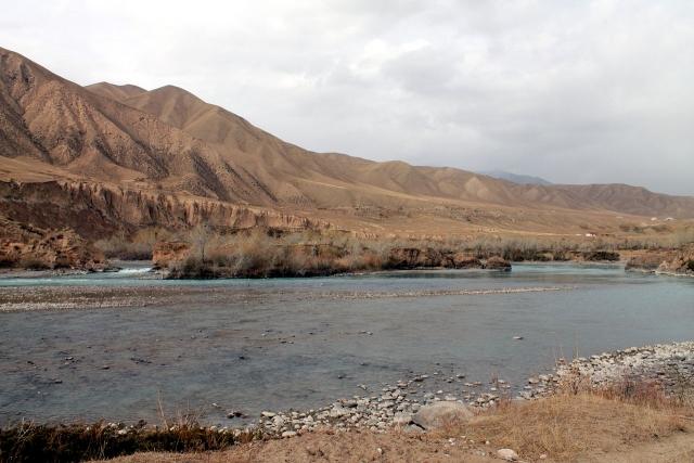Створ плотины Нарынской ГЭС-1, Киргизия