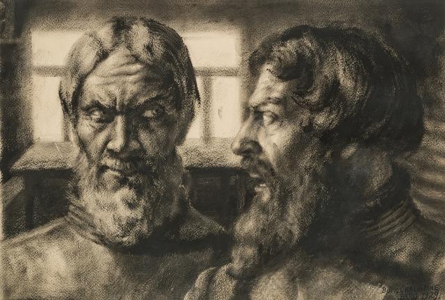 Борис Шаляпин, «Двойной портрет Федора Шаляпина», 1929 год