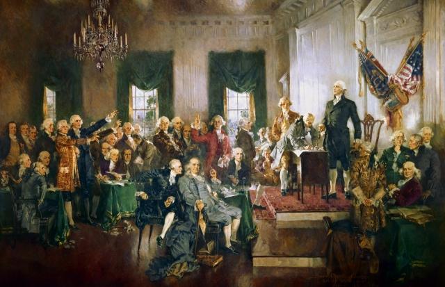 Конституционный конвент в Филадельфии — подписание Конституции 1878 г
