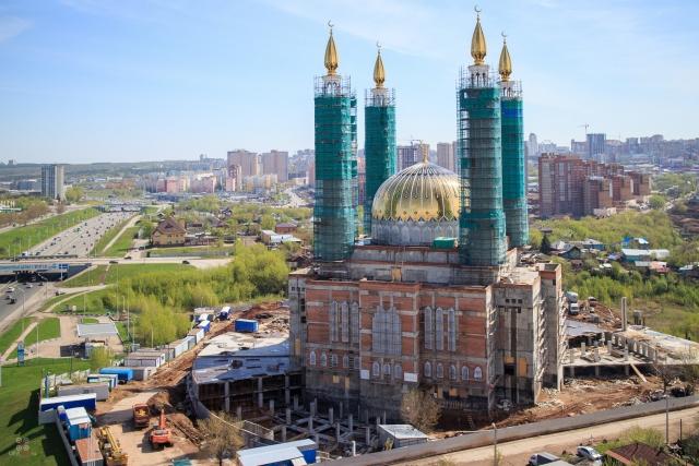 Строящиеся мечеть Ар-Рахим. Уфа