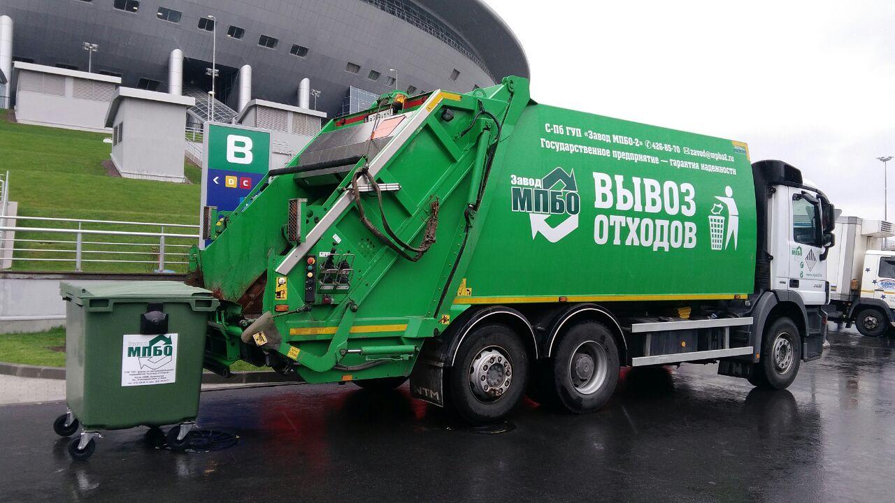 Вывоз мусора с территории стадиона «Санкт-Петербург»