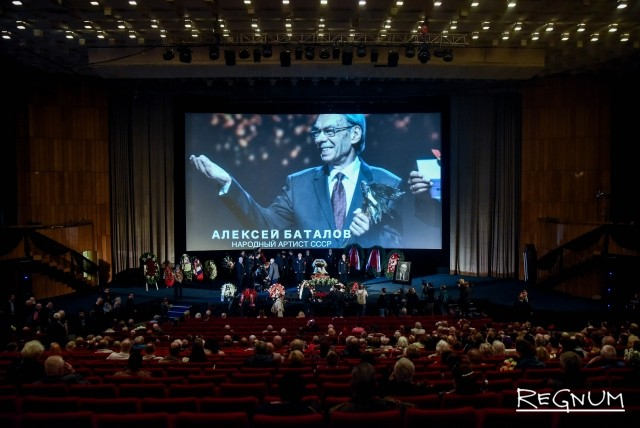 Прощание с Алексеем Баталовым в Доме кино
