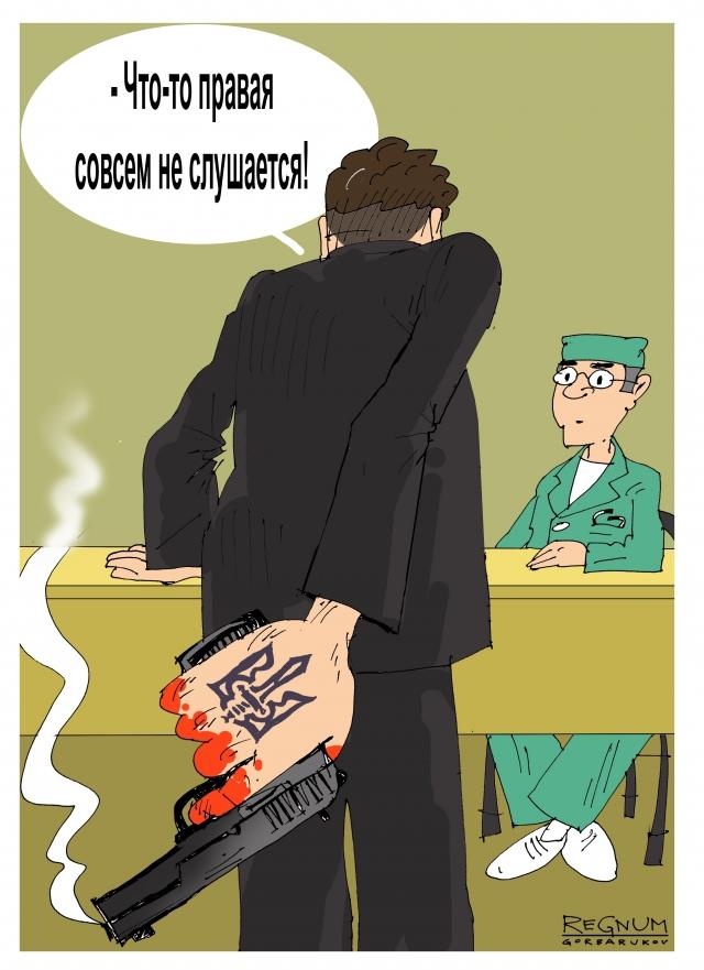 Приёмная летящего в Вашингтон Порошенко заблокирована «карателями» из АТО