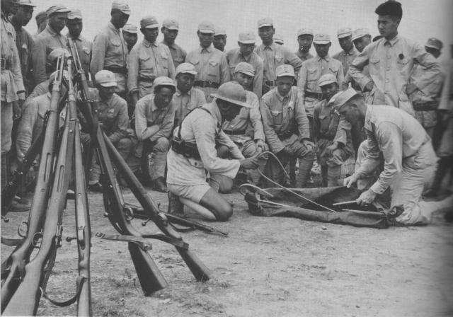 Китайские офицеры. Квейлин, июнь 1944 года