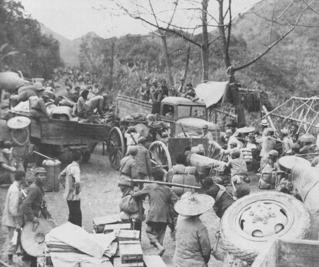 Эвакуация жителей Лючоу. Ноябрь 1944 года
