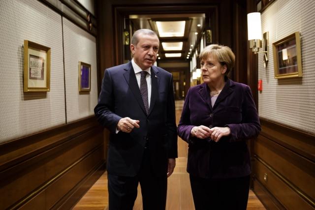 Ангела Меркель и Реджеп Тайип Эрдоган. Анкара, 8 февраля 2016 года