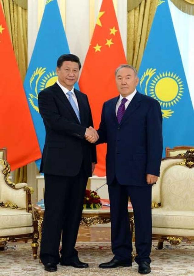 Президент Казахстана Нурсултан Назарбаев и Председатель КНР Си Цзиньпин