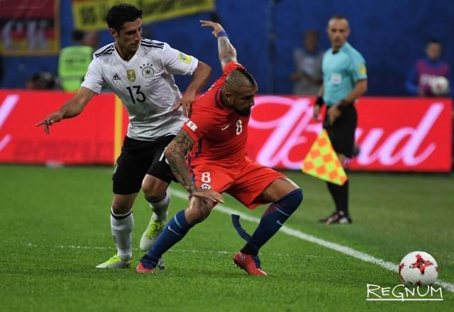 Матч финала КК-2017 между сборными Чили и Германии