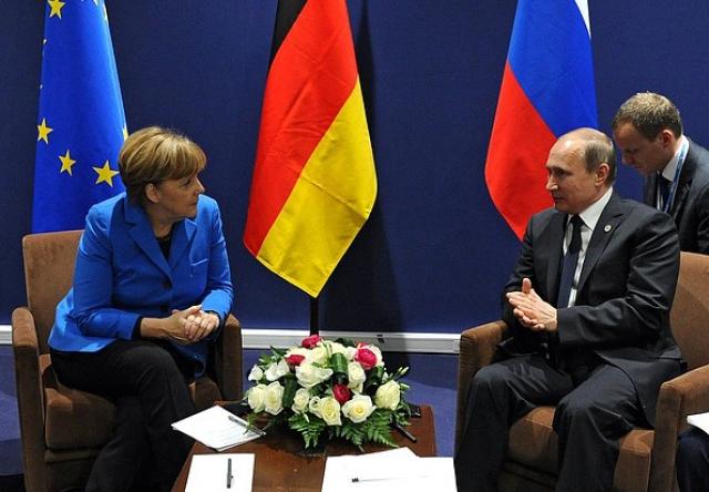 Встреча президента России Владимира Путина с федеральным канцлером Германии Ангелой Меркель
