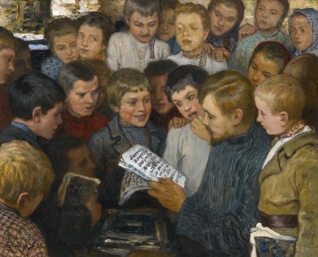 Николай Богданов-Бельский. Сельская школа. 1890-е