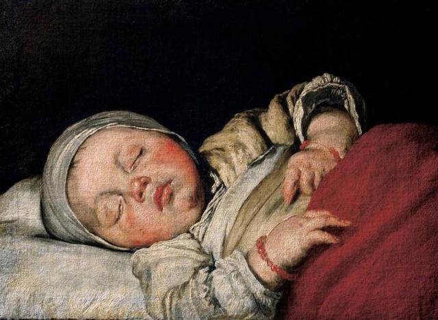 Бернардо Строцци. Спящий ребёнок. 1607