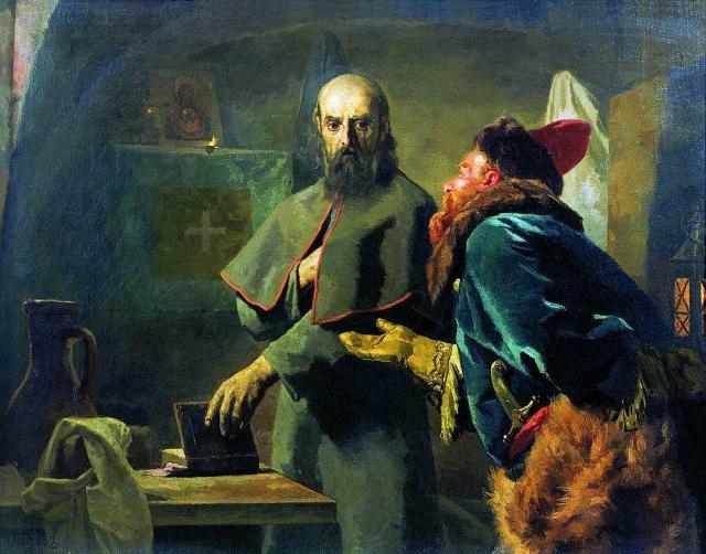 Николай Неврев. Митрополит Филипп и Малюта Скуратов. 1898