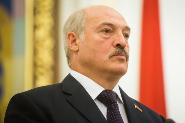 Александр Лукашенко во время визита в Киев