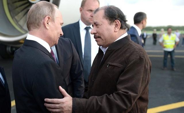 Владимир Путин и Даниэль Ортега. 2014