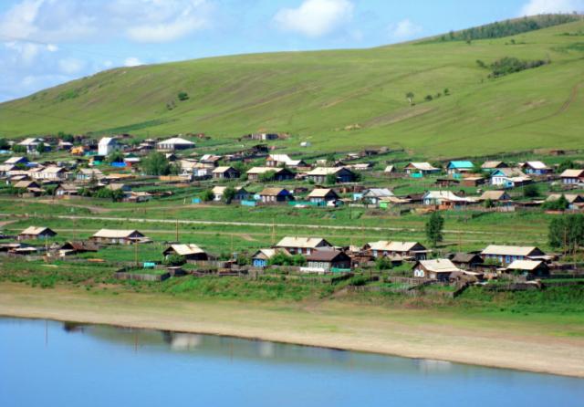 Забайкалье Сретенск. Вид поселка Матакан