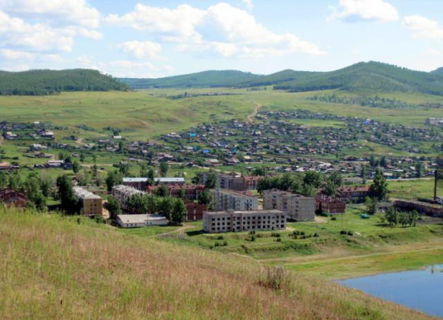 Забайкалье Сретенск. Вид на городок бывшего гарнизона