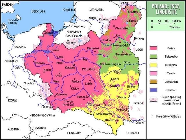 Этнографическая карта Польши