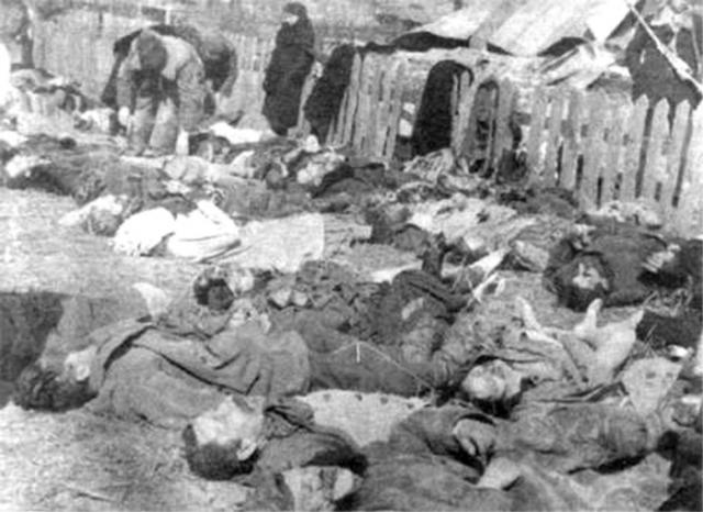 Поляки — жертвы Волынской резни. 1943