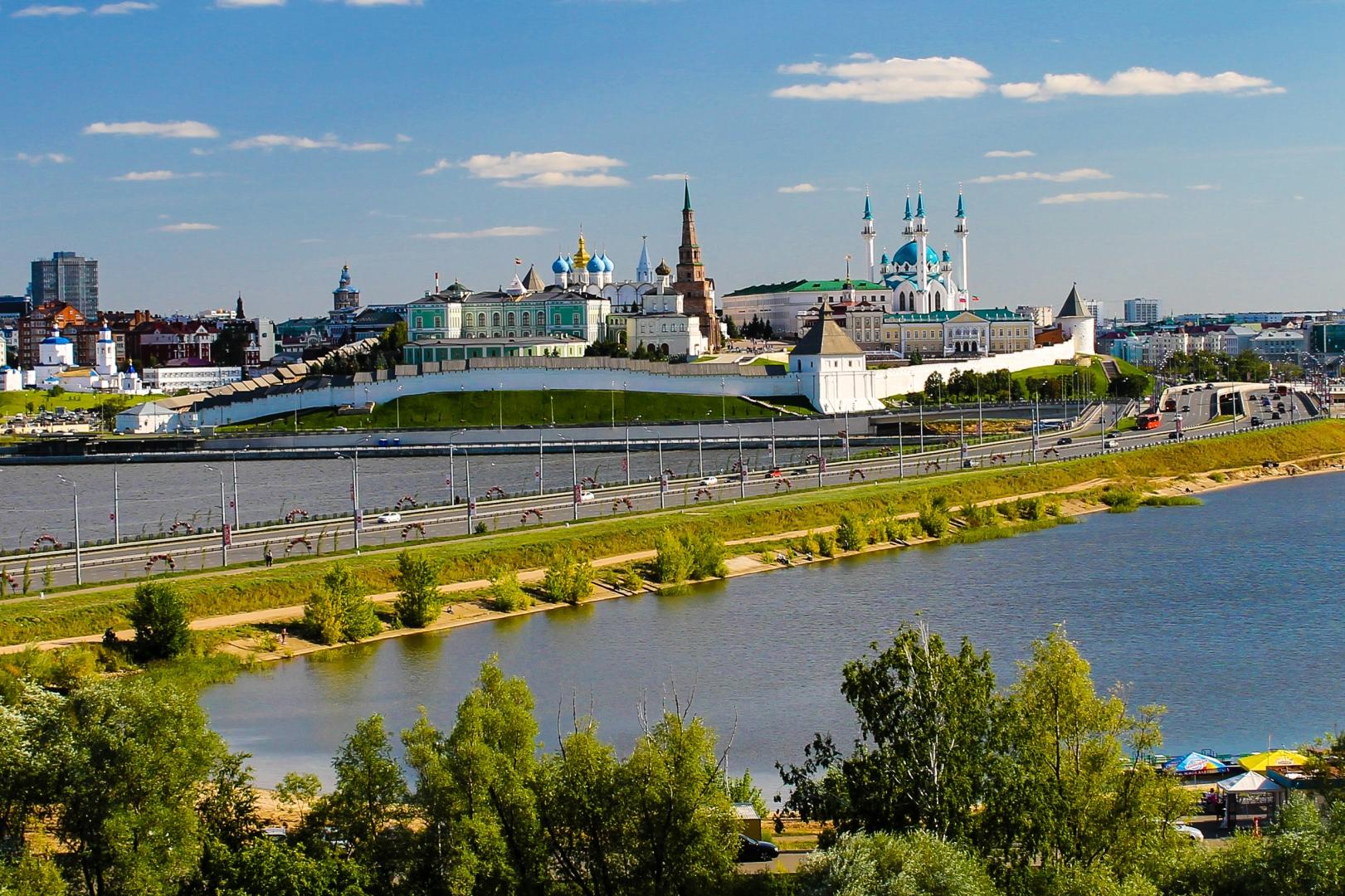 Казанский кремль. Панорама с колеса обозрения