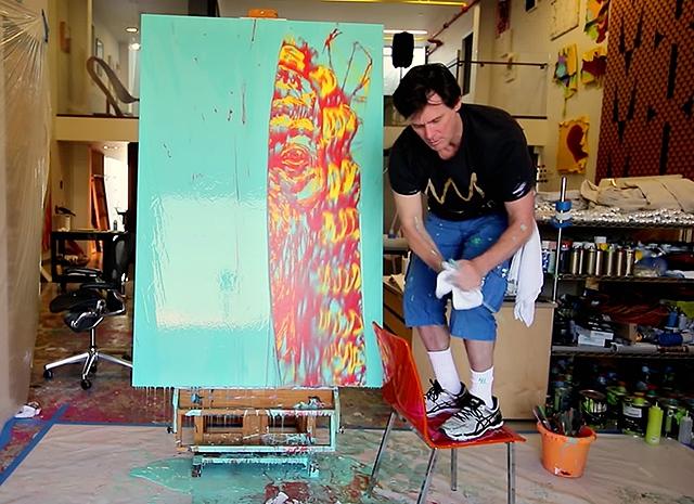 Джим Керри показал в документальном фильме свой художественный талант