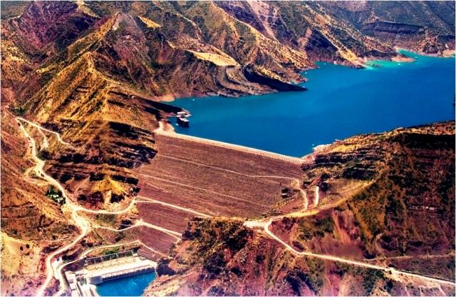 Дамба Нурекской ГЭС, Таджикистан