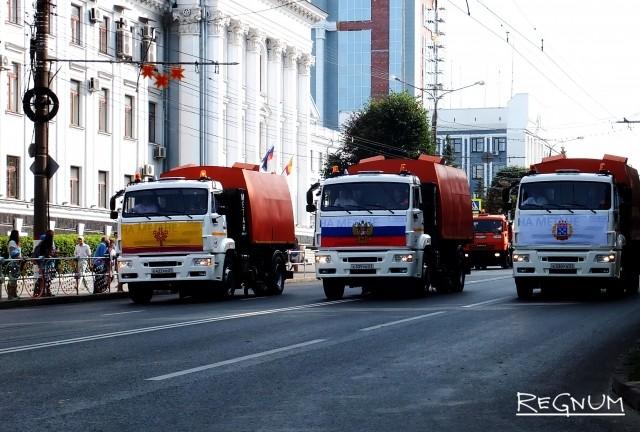 Начало парада городской техники