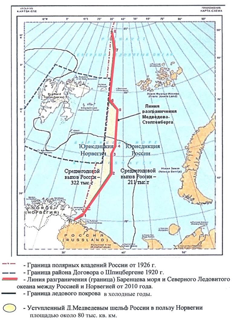 Баренцево море. Разграничение