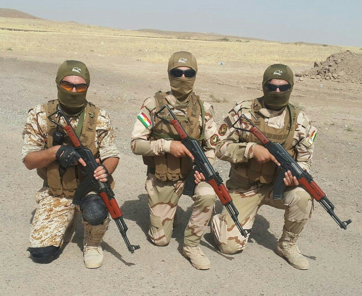 Спецназ курдов в Мосуле