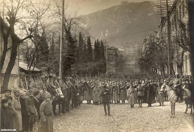 Красная армия в Тбилиси. Грузия. 1921