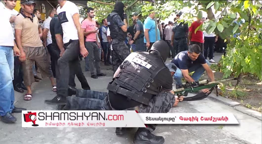 Полицейская спецоперация в Ереване