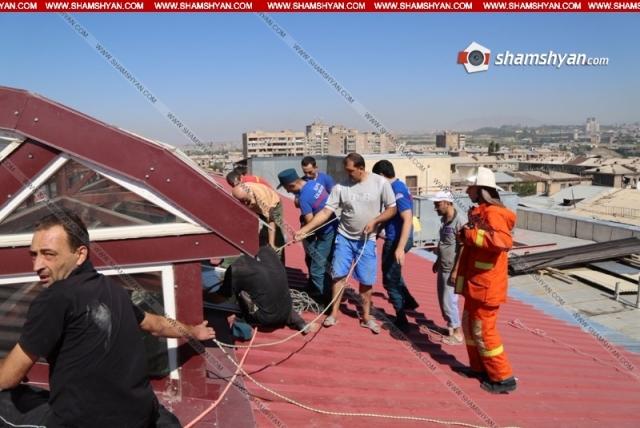 Спасение рабочих в Ереване