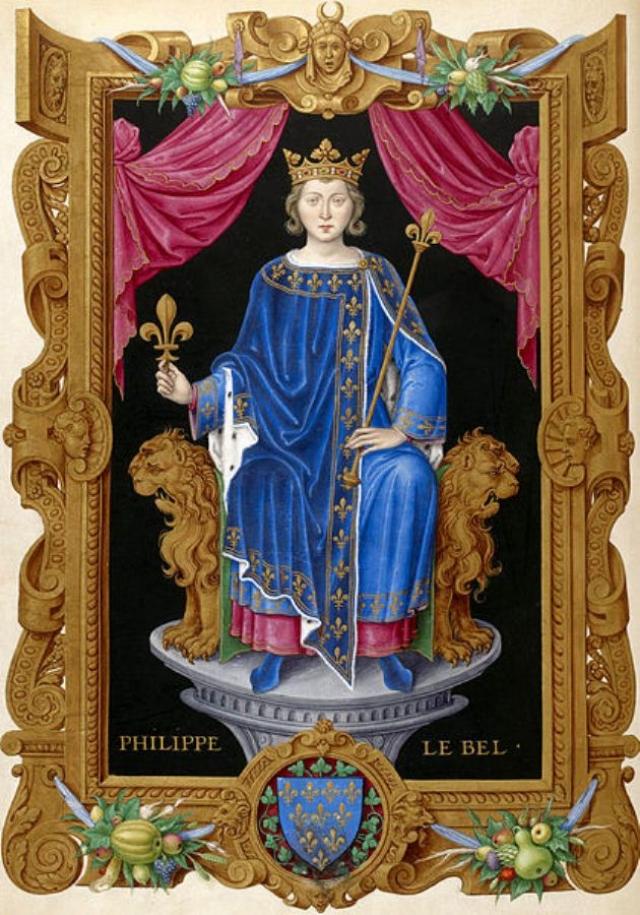 Филипп IV Красивый из книги Жана де Тилле «Короли Франции»