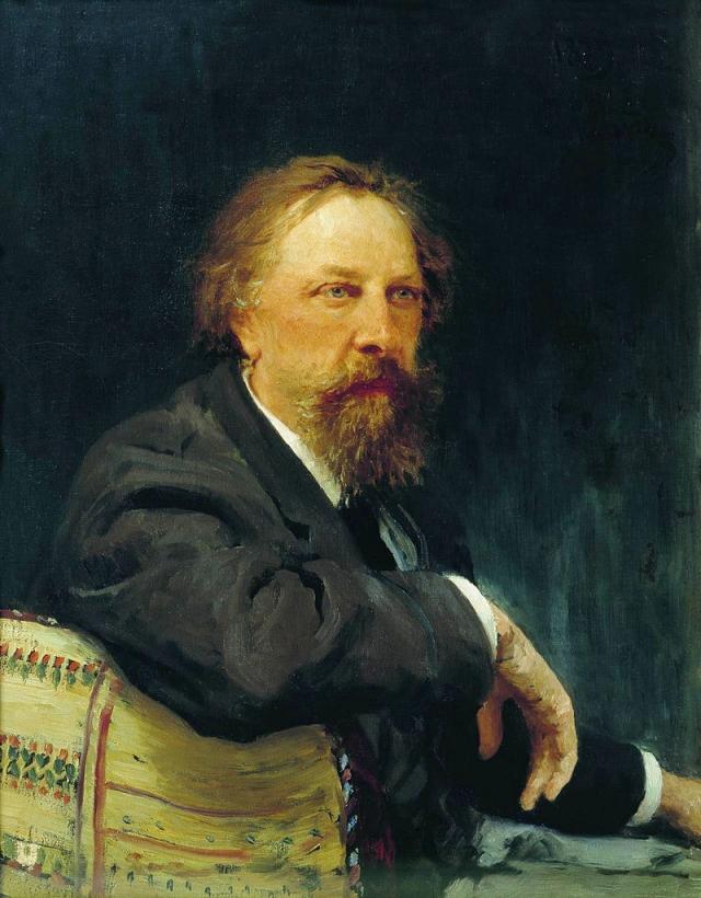 Илья Ефимович Репин. Портрет писателя Алексея Константиновича Толстого 1896