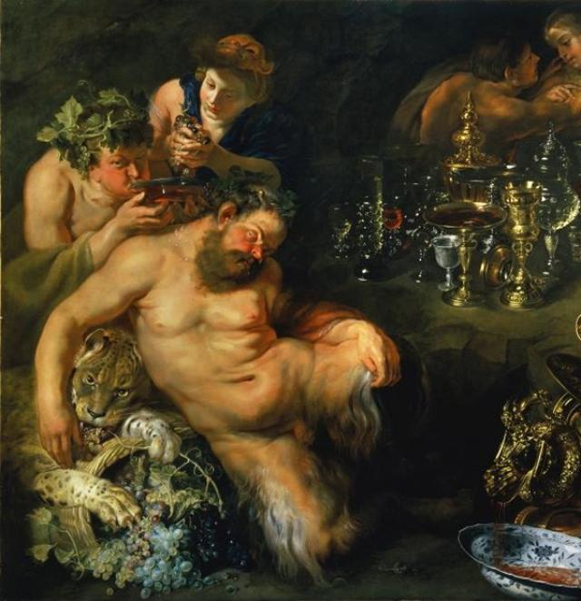 Мастерская Рубенса. Пьяный Силен. поддерживаемый сатирами, 1620