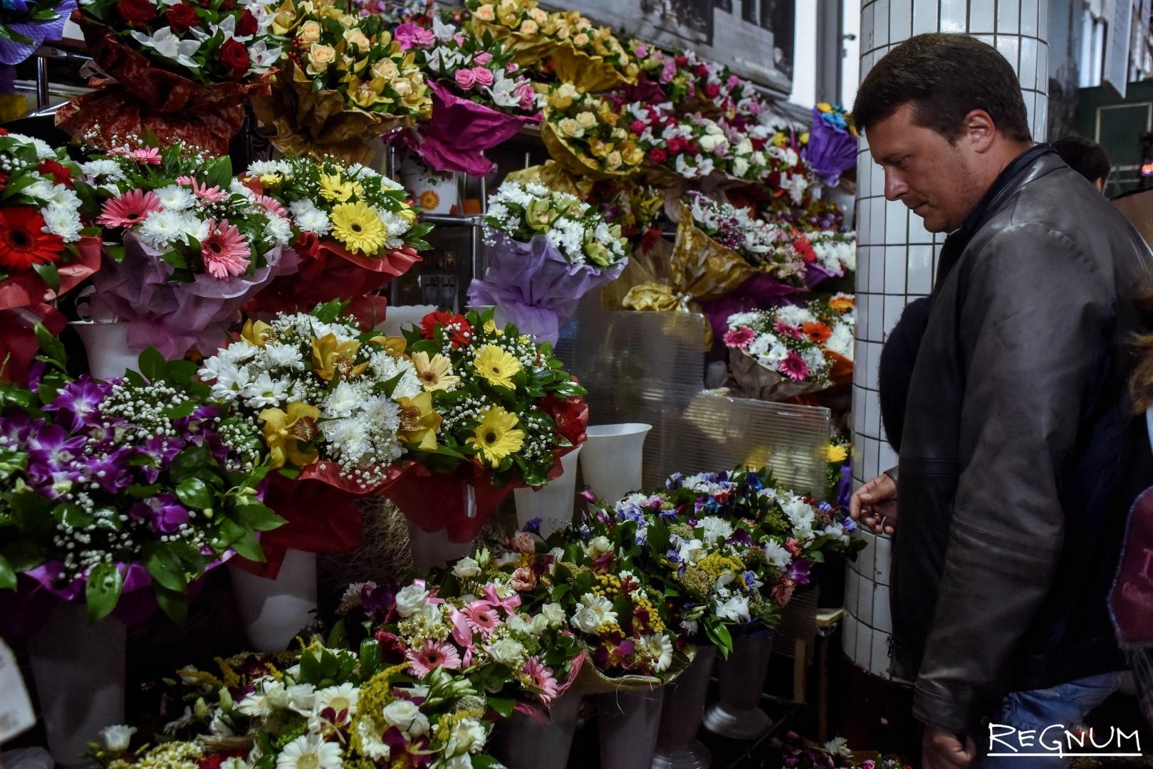 Оптом цветы в город москва рижская