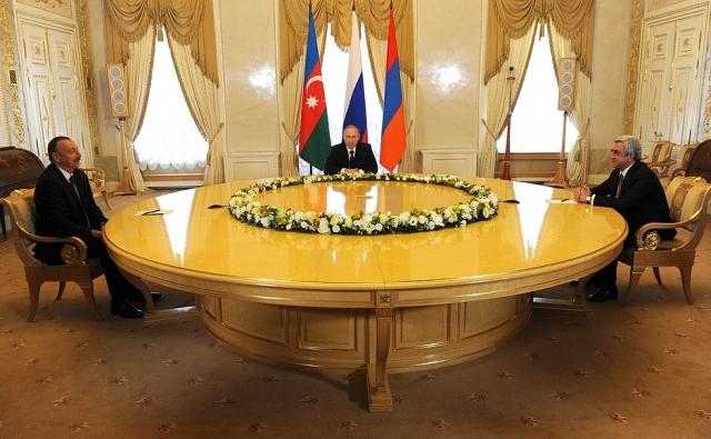 Встреча Владимира Путина, Сержа Саргсяна и Ильхама Алиева