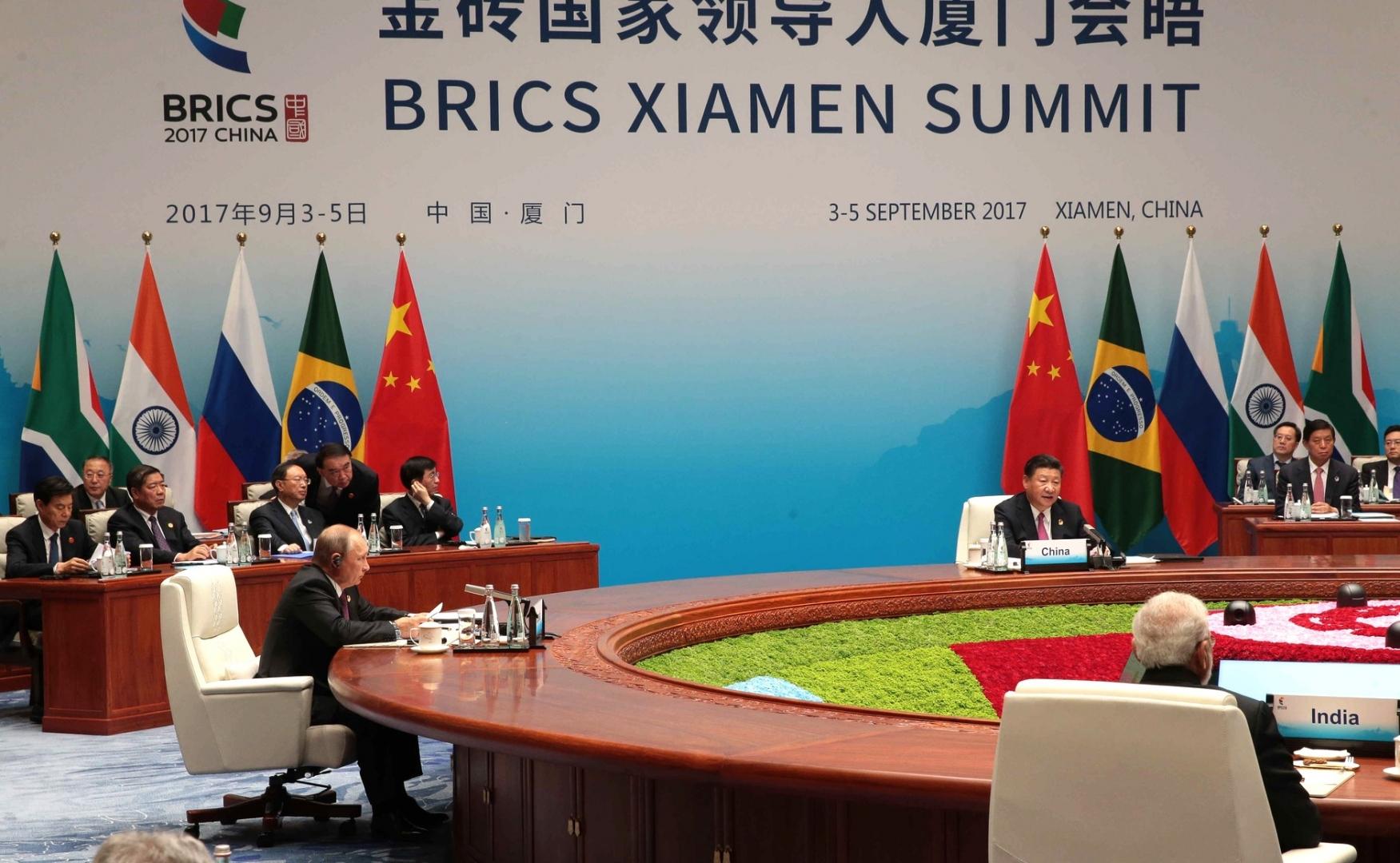 Встреча лидеров БРИКС в расширенном составе. Сямэнь, 4 сентября 2017 года