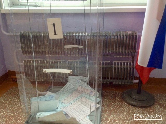 Избирательный участок в Барнауле