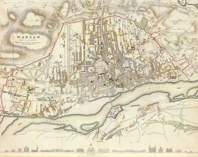 План Варшавы. 1831