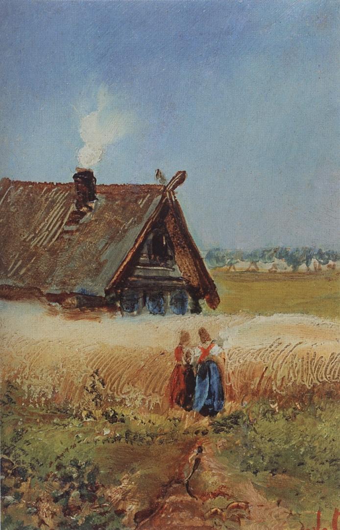 Алексей Саврасов. Кутузовская изба в Филях. 1860-е