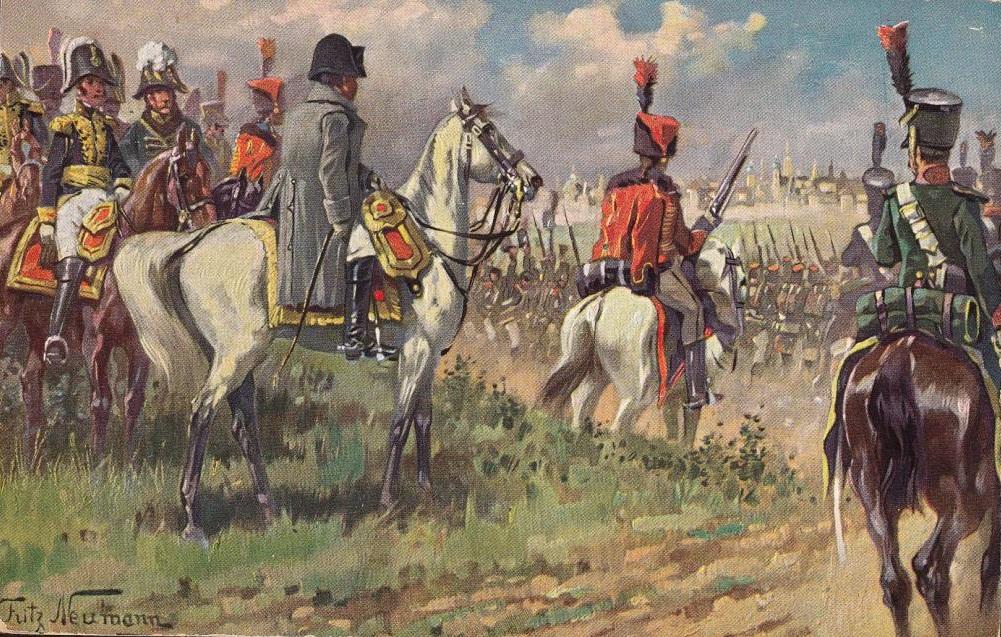 Ф. Нейман. Наполеон под Москвой