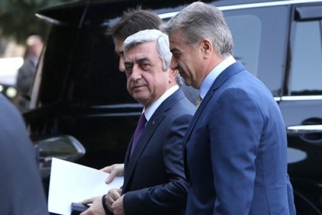 Серж Саргсян и Карен Карапетян