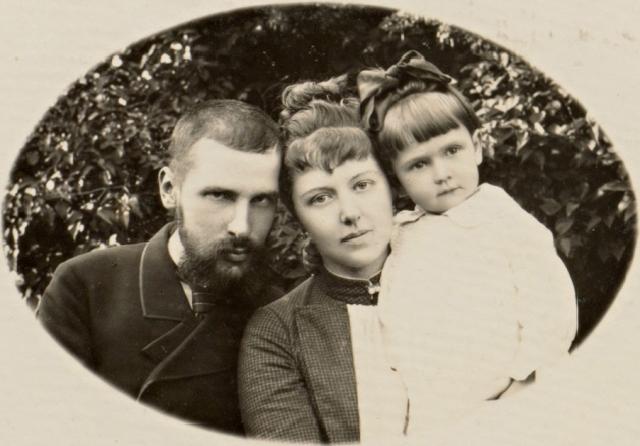 Столыпин с супругой Ольгой Борисовной и дочерью Марией. 1889