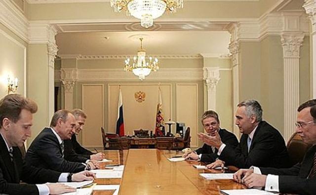 Встреча Владимира Путина с председателем правления концерна «Сименс АГ» Петером Лёшером. 2 апреля 2008 года