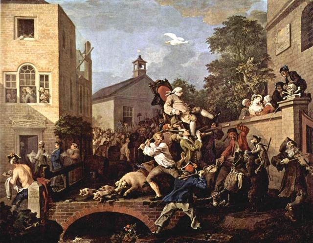 Уильям Хогарт. Выборы. Триумф депутатов. 1775
